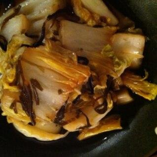 困った時はコレっ!白菜と塩昆布の和え物