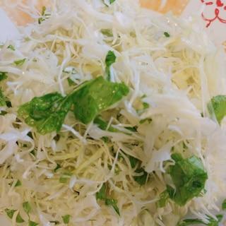 無限♡千切りキャベツと水菜のサラダ♪