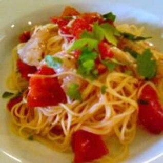 トマトとバジルの冷たいカッペリーニ