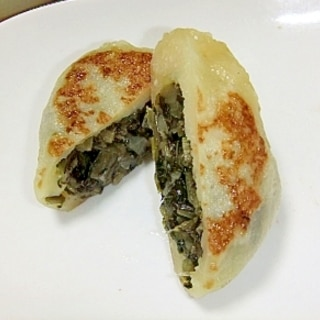 野沢菜おやき