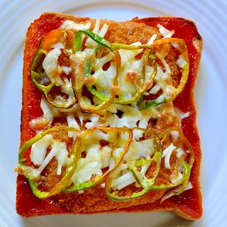 余ったコロッケでリメイク★コロッケのピザ風トースト