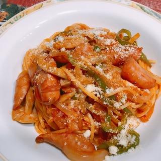 我が家の昔ながらのナポリタン☆イタリアンスパゲティ