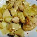 エリンギと鶏肉のさっぱり炒め