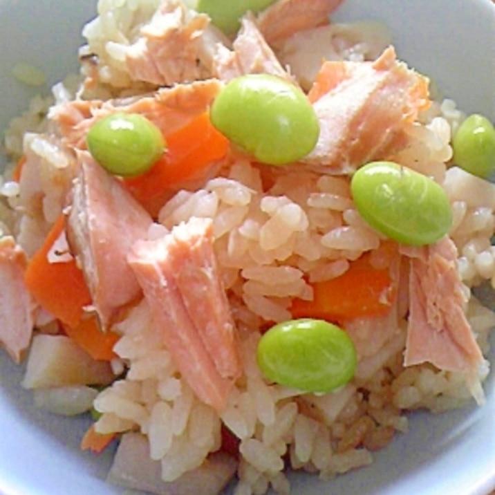 ✿秋鮭の炊き込みご飯✿