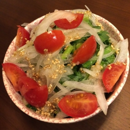 生の春菊美味しいですね!!レシピありがとうございます。