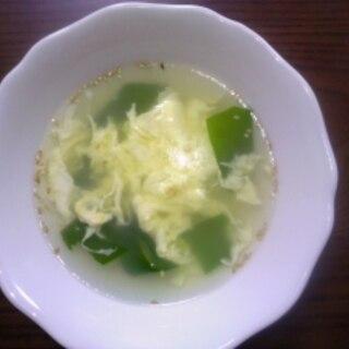ほっとする味☆玉子ワカメスープ☆