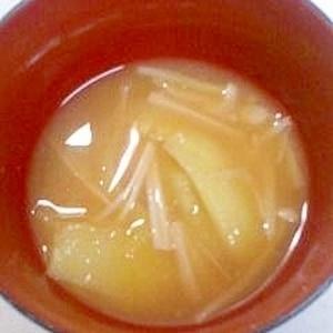 じゃがいもとえのきの味噌汁