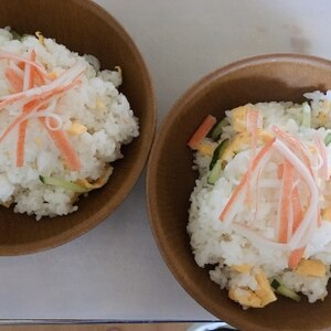 家にあるもので簡単に!ちらし寿司