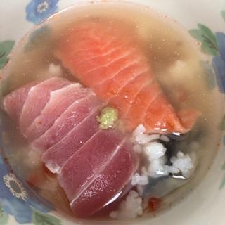 残り物のお寿司で☆贅沢お茶漬け