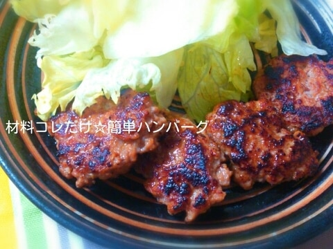 材料コレだけ☆簡単ハンバーグ