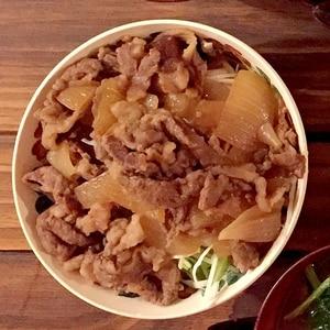 超簡単3ステップ☆吉野家っぽい牛丼(糖質オフ)
