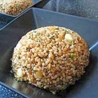 肉味噌とキムチのニンニク炒飯