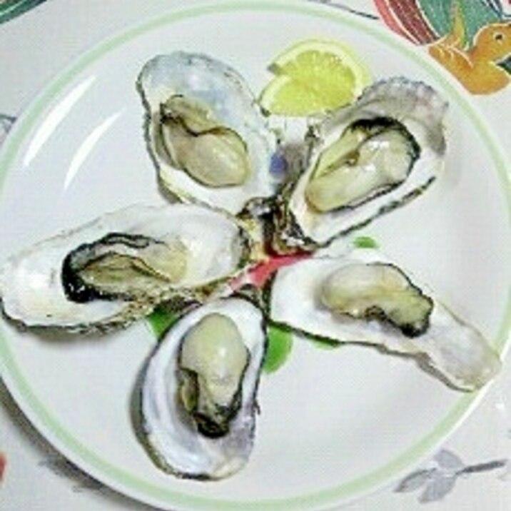 レンジ 殻 付き 牡蠣