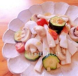 イカとズッキーニの塩炒め