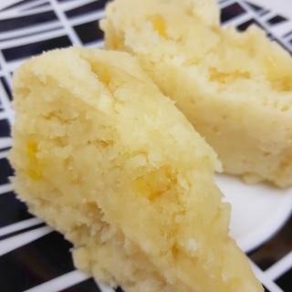 HMで(^^)ポリ袋調理のコーンたっぷり蒸しパン♪