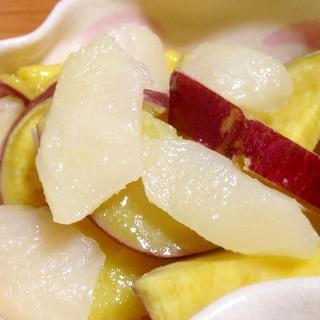 サツマイモとリンゴの甘露煮