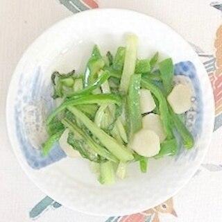 ピーマン、チンゲン菜、ヤーコンの炒め物