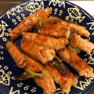 麺つゆで簡単♪長ネギの甘さ引き立つ肉巻き^_^