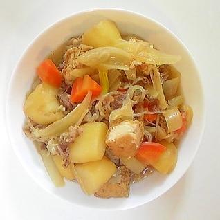 下茹で野菜で時短煮もの