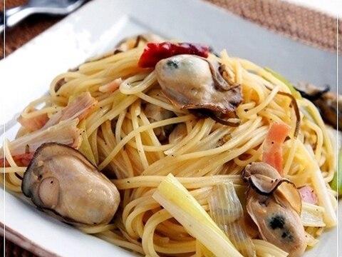 冬限定カフェメニュー@牡蠣と長葱の和風スパゲッティ