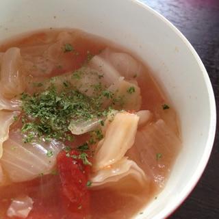 キャベツと玉ねぎのトマトスープ