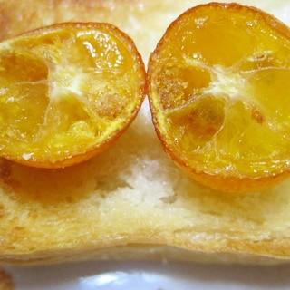 金柑の甘露煮トースト