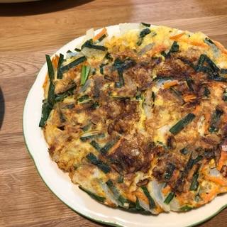 海老と野菜の米粉チヂミ