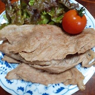 豚ロース肉のマヨポンガーリック炒め