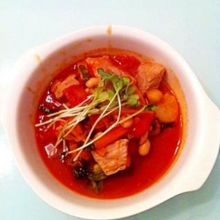 健康レシピサラダ豆入り野菜たっぷりのトマト煮