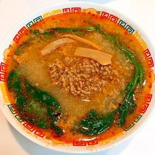 濃厚な肉味噌たっぷりトッピングして☆美味しい担々麺