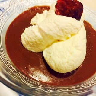 72%ダークチョコとクランベリーのチョコムース