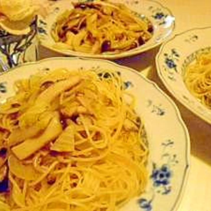 食物繊維たっぷり♪ きのこと野菜たっぷりスパゲティ