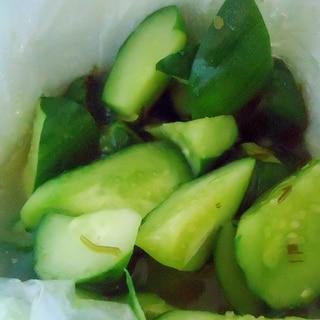 冷凍きゅうりの簡単漬け