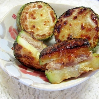 ズッキーニのひき肉サンド
