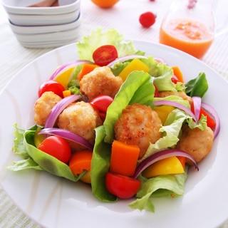 塩から揚げのカラフルサラダ