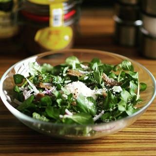 クレソンのアンチョビ温玉サラダ