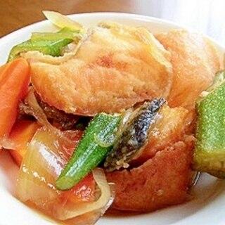 野菜たっぷりの鮭の南蛮漬け