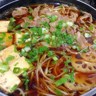 すきしゃぶつゆで☆牛肉ともやしのすき煮
