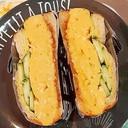 生食パンde厚焼き玉子サンド♪