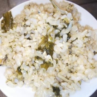 紅しょうがが、無くて…しかも玄米ご飯なので彩りは悪いですが、でも美味しくいただきました。 アイデアレシピありがとうございます。