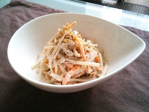 子供もパクパク!シンプルごぼうサラダ♡