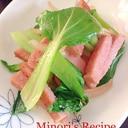 青梗菜(チンゲンサイ)とランチョンミート炒め♪