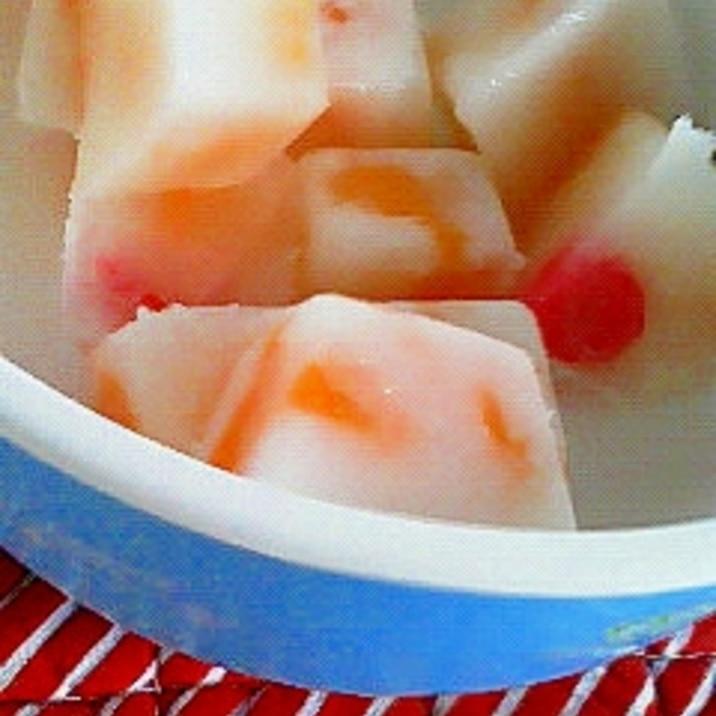 子供とつくろう♪ 製氷皿でフルーツアイス