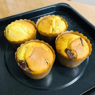 HMで簡単チョコレートマフィン☆カップケーキ