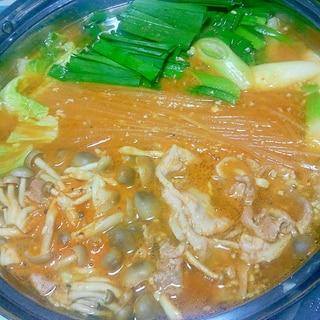 ピリ辛味噌鍋++