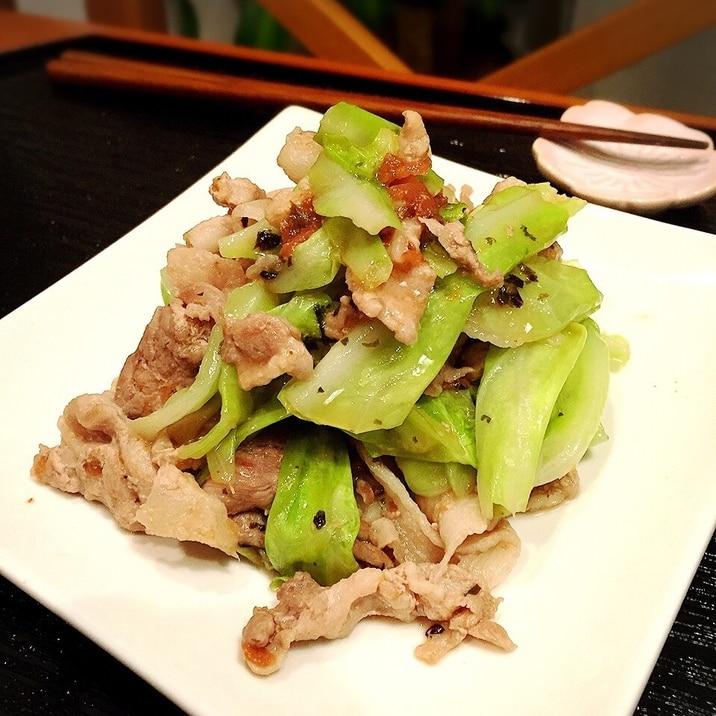 酸っぱ旨い♡豚肉とキャベツの梅肉炒め