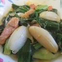 葉玉ネギとペコロスの焼き味噌炒め