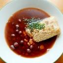 小豆煮えたよ❤・・❤ヘルシーお汁粉♪