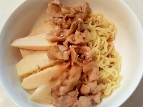 ☆たけのこ☆と豚肉のミニ冷やし中華