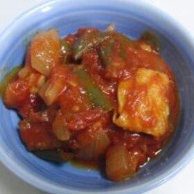ピーマンと鶏肉のトマト煮